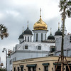 Restaurante Dos Hermanos in front of the Russian Orthodox Church in Havana