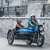 Historic motor bike in Havana