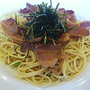 Natto And Bacon Spaghetti<br /> <br /> Fusion of traditional Italian and Japanese flavors.<br /> <br /> Angelo Pietro Restaurant<br /> Honolulu, O'ahu<br /> 20 July 2014