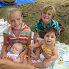 Henry, Isabele, Nyle & Lily at the sprinkler park