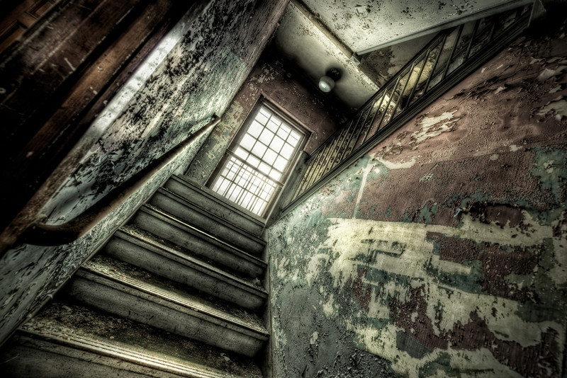"""Stairs"" January 16th, 2013 Westborough Insane Asylum Westborough, MA"