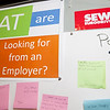 Students tell SEW Eurodrive what they want from employers. (Photo/Kim McManus)