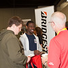 Bridgestone employees talk to students about available careers with the tire manufacturer. (Photo/Kim McManus)