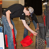 Students check out S.C.-built tires during the S.C. Manufacturing Conference and Expo in Greenville. (Photo/Kim McManus)