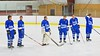 Oswego Buccaneers starting lineup before playing the Baldwinsville Bees at the Greater Baldwinsville Ice Arena in Baldwinsville, New York on Tuesday January 27, 2015.  Baldwinsville won 4-0.