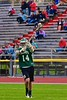 Fayetteville-Manlius Hornets Tyler Papa (14) passes the ball against the Baldwinsville Bees in Section III Boys Lacrosse action at the Pelcher-Arcaro Stadium in Baldwinsville, New York on Friday, May 1, 2015.  Baldwinsville won 11-9.