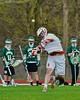 Baldwinsville Bees Charlie Bertrand (6) fires a shot at the Fayetteville-Manlius Hornets net in Section III Boys Lacrosse action at the Pelcher-Arcaro Stadium in Baldwinsville, New York on Friday, May 1, 2015..  Baldwinsville  won 11-9.