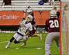 West Genesee Wildcats Nick Cunningham (3) played the Auburn Maroons Jack Hogan (29) for the Section III Class A Boys Lacrosse Championship at the Carrier Dome in Syracuse, New York on Wednesday, May 27, 2015.  West Genesee won 16-9.
