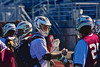 Auburn Maroons Jack Burgmaster (5) greets his teammates as they enter the stadium before playing the Syracuse Cougars in Section III Boys Lacrosse Semi-Final game at the Michael J. Bragman Stadium in Cicero, New York on Saturday, May 23, 2015.  Auburn won 14-6.
