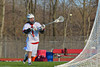 Baldwinsville Bees Zachary Bulak (1) fires a shot at the Corcoran Cougars net in Section III Boys Lacrosse action at the Pelcher-Arcaro Stadium in Baldwinsville, New York.  Baldwinsville won 10-1.