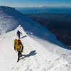 Taranaki climber Phill Davies and author Paul Hersey on Mt Taranaki