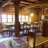 Five rooms and a restaurant, renovated beautifully with wood everywhere, owned by Rosie and Bruno who have created a lovely atmosphere which their presence only enhances.