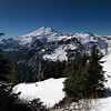 One Last Look At Mt Baker Before We Descend