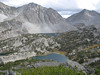 """View from """"Lexi Peak""""   Morgan Pass, Chicken Foot and Long Lakes"""