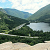 From Artists Bluff: S over Echo Lake down Franconia Notch.