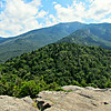 .From the Bald Mtn. summit: SE over Artists bluff to Mt. Lafayette. Mt. Garfield to the left.