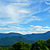 SW outlook near the south end of Cook Path: Mt. Moriah behind Pine Mtn. on left; Imp Mtn. and No. Carter on right.
