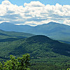 From the north Mt. Cabot view ledge: closer view of Presidentials, to SW. Mt. Winthrop in Foreground.