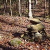 Rock Cairn....signally this is the turnoff to take to get to Moonshine and Confusion Falls.