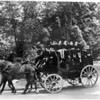 College, at Aurora, New York, as they completed with tradition, and rode to the baccalaureate sermon in the old Wells Fargo stage coach, presented to the college in memory of Henry Wells, the founder. (Photo ID: 50567)
