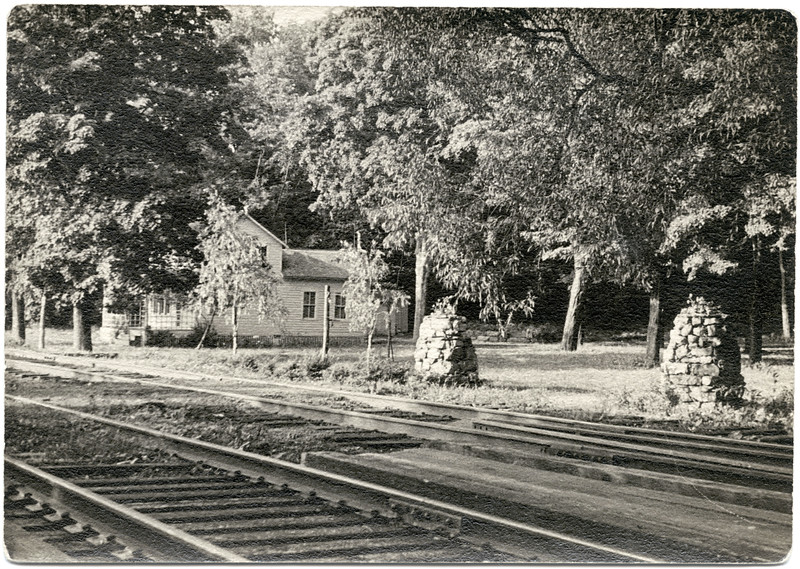 Camp at Atwater Station when the railroad was still in existance. The camp still exists today (2013) with an addition.) Photo courtesy of Marge Utter. (Photo ID: 48946)