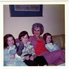 Amy Bill Grandma Cramer, Jody on couch in Trenton Michigan Mid 1970s