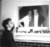1990, Mike Begler worshipping at photo of Jaso & SDjr
