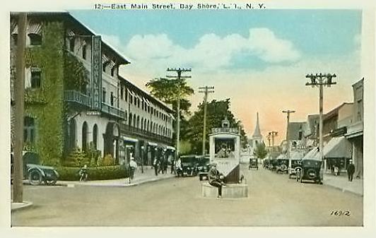Cortland hotel and view of East Main Street, ca. 1925
