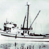 Vagabond,Built For Nick Milsoevich and Tom Loverich,Captain Katsu Hamichi,Chief Engineer George Fukuzaki,Pic Taken After Launching And rigging For Fishing  1935,
