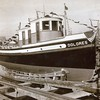 Dolores  Patty D Backtack  1935 Launching Marine Boat and Engine Wks Seattle Nakat Packing Later J A Puderbaugh  Patricia Dwyer  Albert Dwyer Daniel Ahart Kelvin Decker