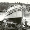 Patricia Ann,Built 1966 Harold Hansen Seattle,Launching,Splash,Hubert McCallum,Last wooden Seiner Built,Also the of the Biggest Wooden,