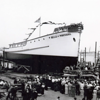Belle Of Portugal,Built 1937 Campbell Machine San Diego,Launching,For MG Rosa,Converted To Seiner 1960,Sunk 12-1961,