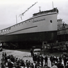 Normandie,San Salvador,Campbell Machine 1938,Launching for M O Medina,Normandie converted to seining later,