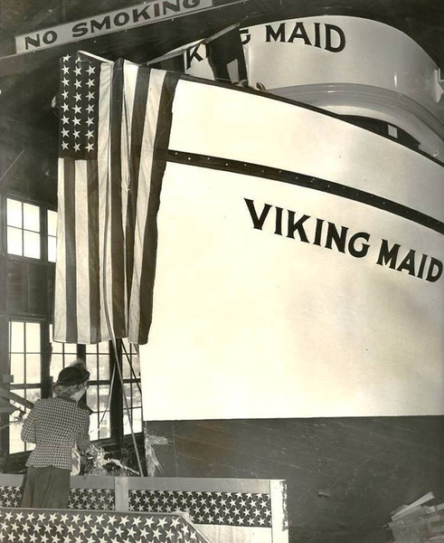 Viking Maid,1952 Launching,Built Harold Hanse,Don Hansen,Later Named Ocean Queen,