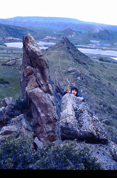 7. Friend Jim McCaleb, scaling the heights at the Bighorn area.