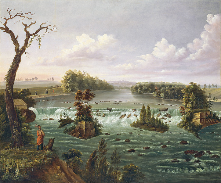 Painting of the Falls of St. Anthony by Henry Lewis.