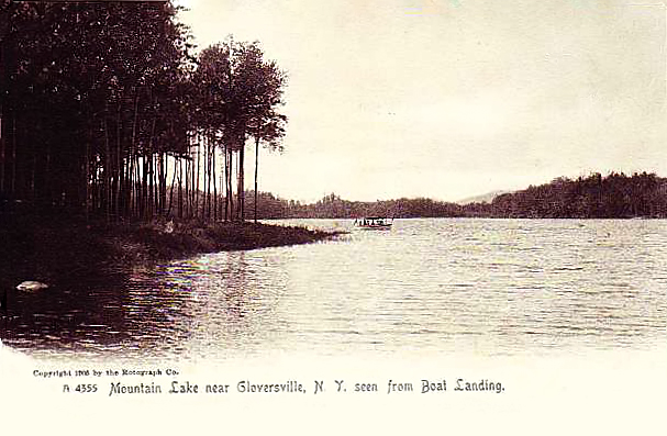 Mountain lake near Gloversville, 1905.