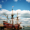 USA 1995   Mayflower replica in Plymouth harbour