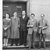 DWS LowerMill 1956    Joan Dugdale, Fred Pease, Peter Rostron, Gordon Hartley and Victor Baxter