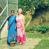 Nepal   With Tsaili in the new sari we bought her