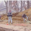 Building a retaining wall from the Lodge to the Gym.  Team led by Steve Spiech, Lawton EMC.