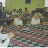 Making bed covers for Bankson Lodge.