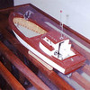 Model 28ft,1948  Columbia River Bowpicker Gillnet Boat,Builder Marvin Tolonen,Note Mahogany Stern,