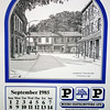 P&P The Rossendale Calendar 1985 Drawings by John Arkwright Produced by Paul Whitney  010