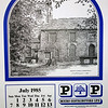 P&P The Rossendale Calendar 1985 Drawings by John Arkwright Produced by Paul Whitney  008