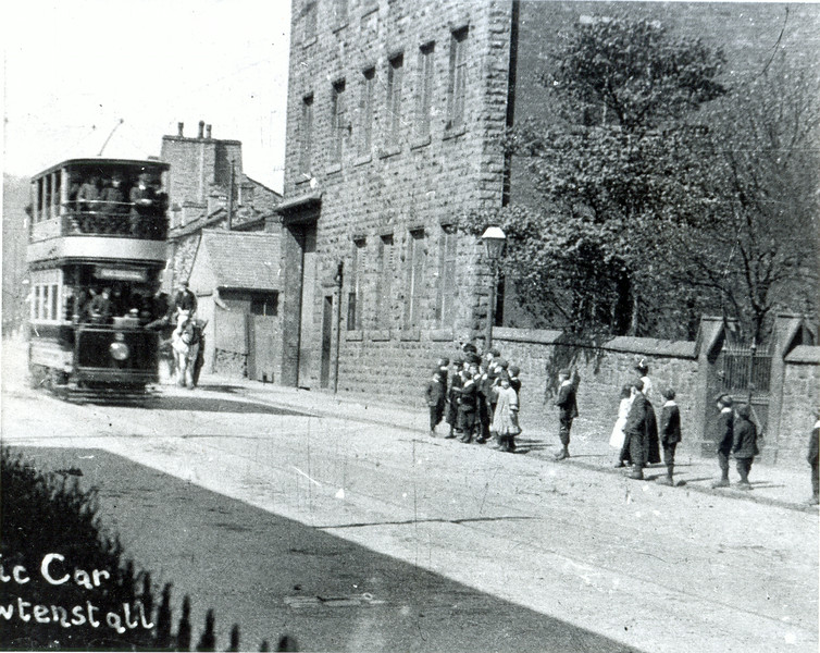 Tram on Burnley Road, Rawtenstall