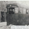 Rawtenstall Steam Tram used as snow plough outside Grand Theatre JD
