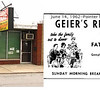 GEIER'S RESTAURANT--Originally located a couple doors south.  Owned by the Geiers, who lived nearby on Michigan Avenue.