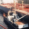 Exxon Valdez Grounded,Salavage Chief Alongside,Alaska,