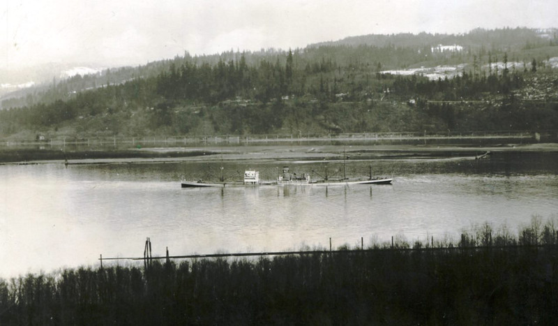 Feltre,Feb 1937 Columbia River Area Longview Bridge,Involved In Colision With Another Ship,Salvaged By Fred Devine Diving And Salvage,